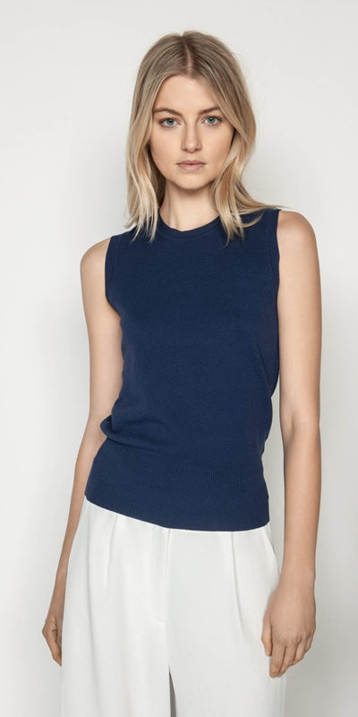 Knitwear  | Textured Knit Tank