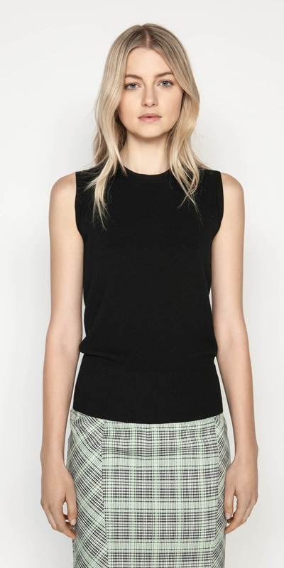 Tops  | Textured Knit Tank