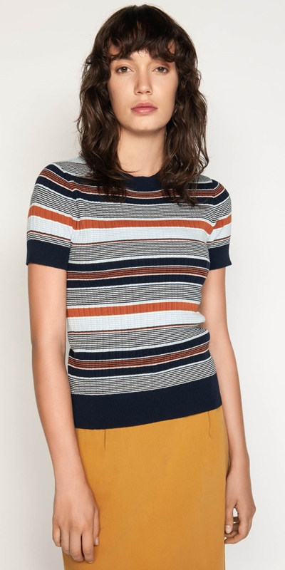 Sale  | Multi Stripe Rib Knit