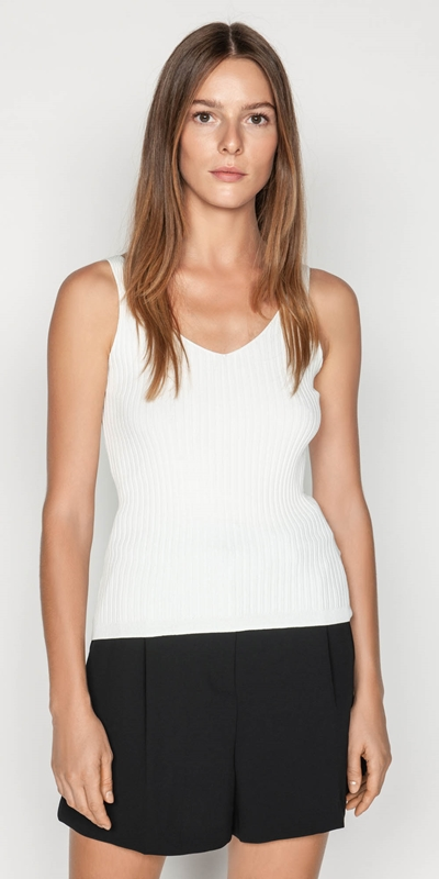 Tops  | V-neck Rib Cami
