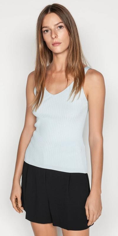 Knitwear  | V-neck Rib Cami