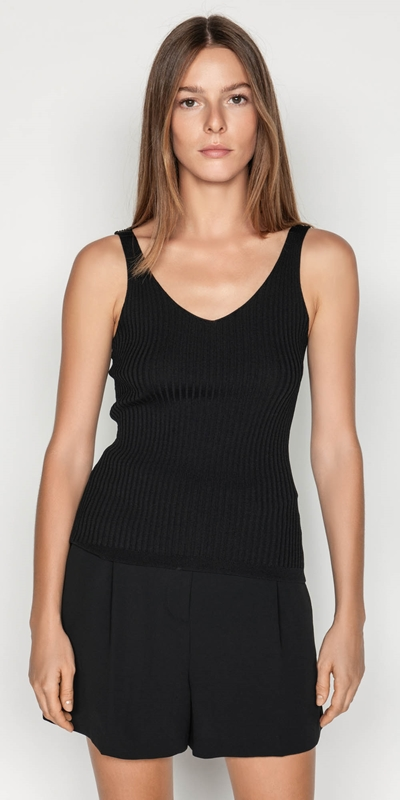 Outlet  | V-neck Rib Cami