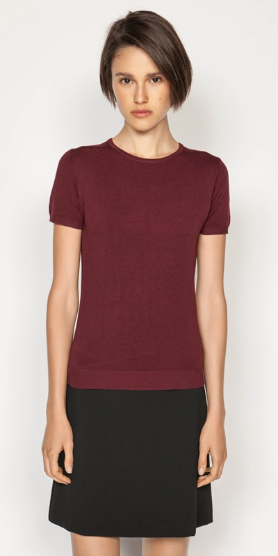 Sale  | Round Neck Short Sleeve Knit