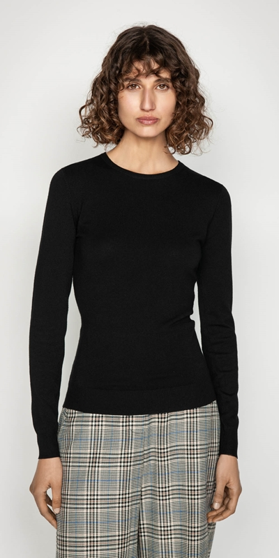 Wear to Work  | Round Neck Long Sleeve Knit