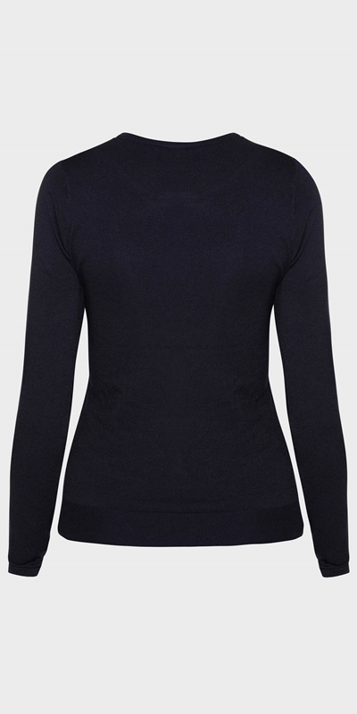 Work From Home  | Round Neck Long Sleeve Knit