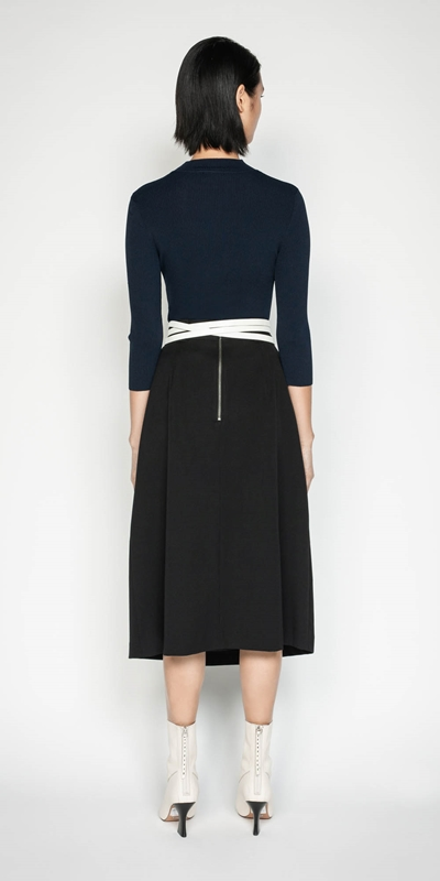 Knitwear | 3/4 Sleeve Rib Knit