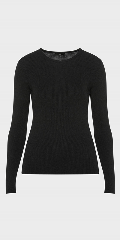 Wear to Work | Long Sleeve Rib Knit