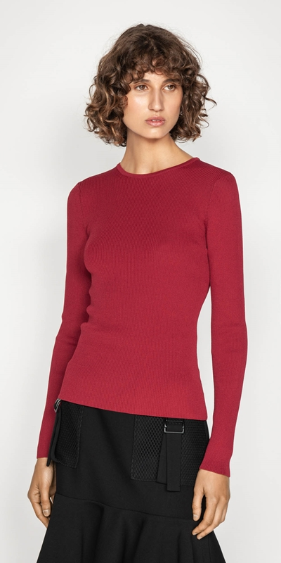 Sale  | Long Sleeve Rib Knit