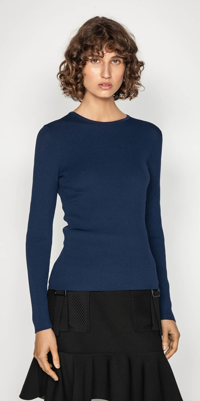 Work From Home  | Long Sleeve Rib Knit