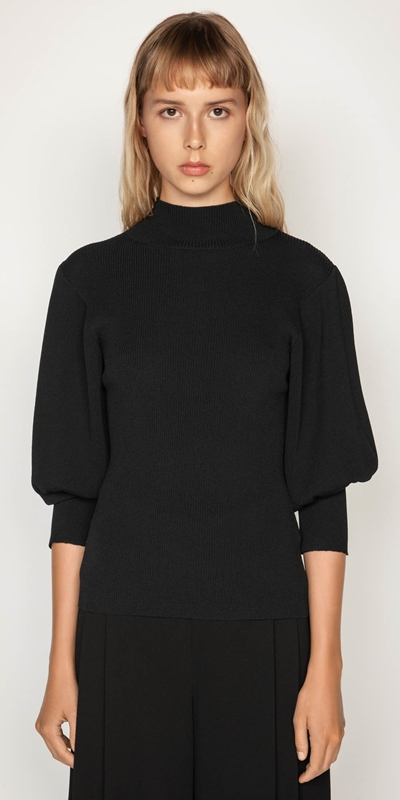 Knitwear | Sculptured Sleeve Knit