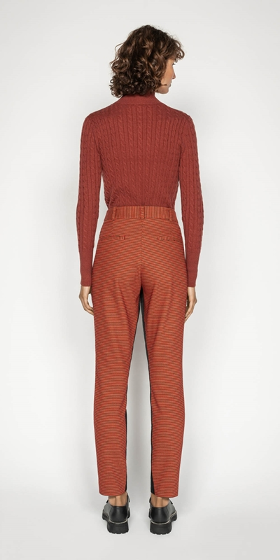 Knitwear | Funnel Neck Cable Sweater