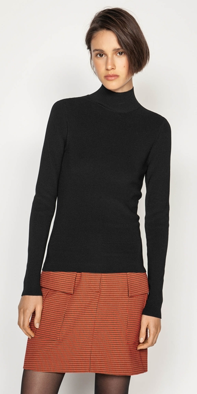 Work From Home  | Polo Neck Knit