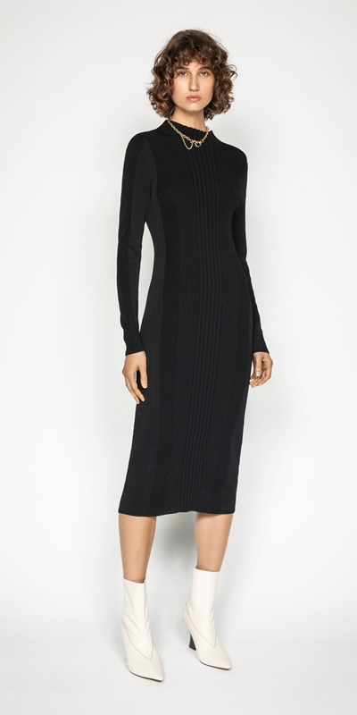 Work From Home | Rib Knit Dress