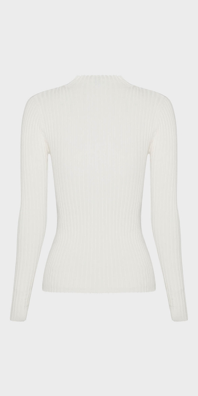 Knitwear | Funnel Neck Rib Knit