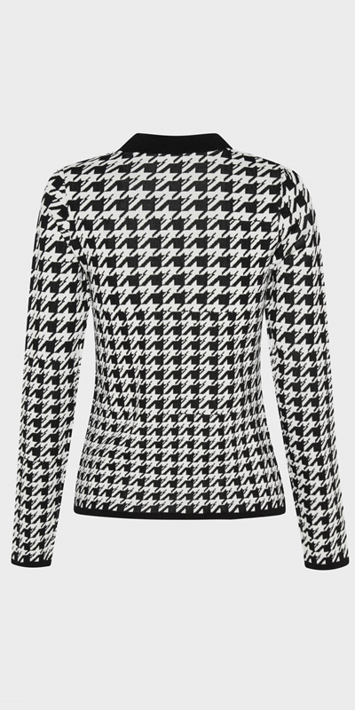 Tops  | Houndstooth Jacquard Knit