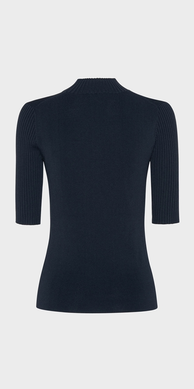 Wear to Work  | Rib Funnel Neck Knit