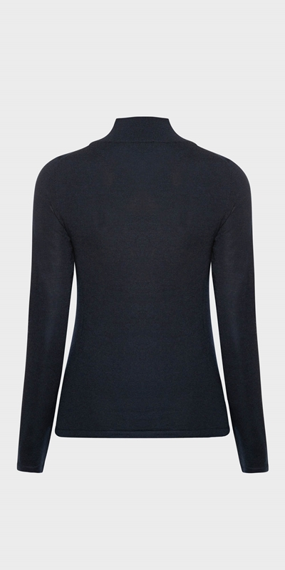 Tops  | Merino Long Sleeve Funnel Neck Knit