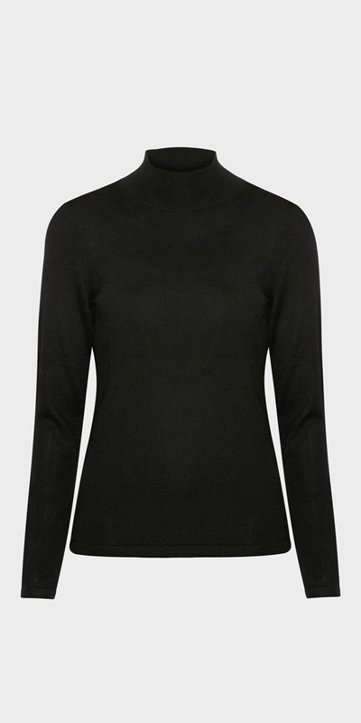 Work From Home | Merino Long Sleeve Funnel Neck Knit