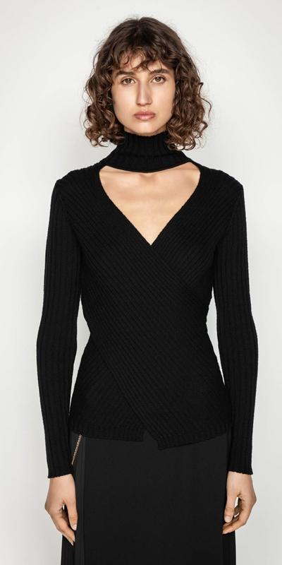Knitwear | Twist Front Merino Knit