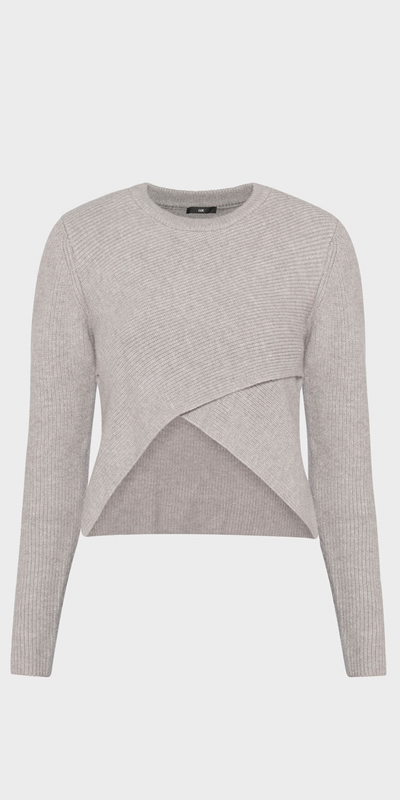 Work From Home | Cropped Cross Front Knit