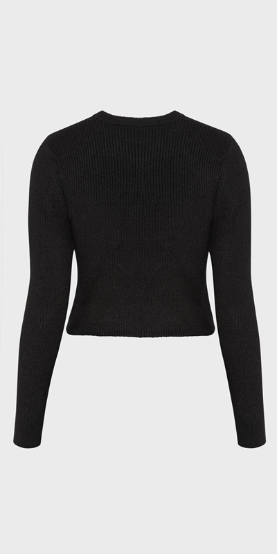Knitwear | Cropped Cross Front Knit