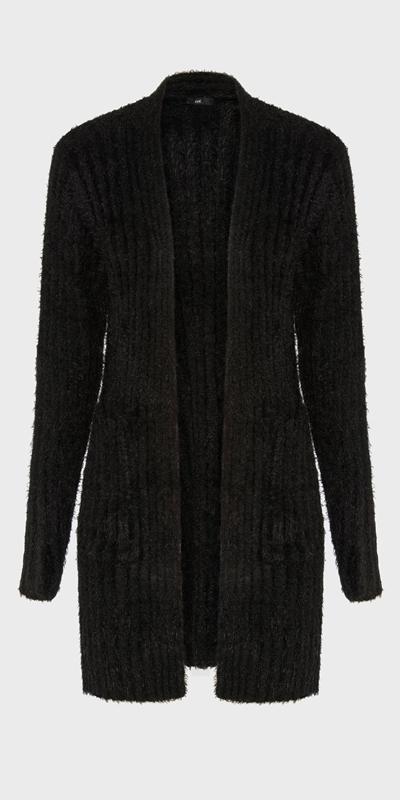 Sale | Wide Rib Fluffy Cardigan