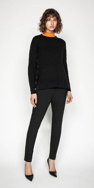 Knitwear | Side Split Cable Sweater