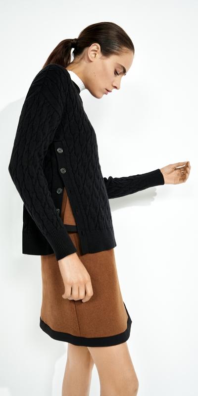 Sale  | Side Split Cable Sweater