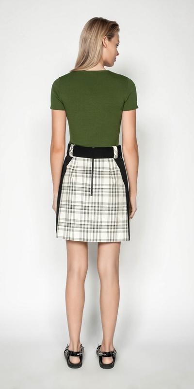 Knitwear | Short Sleeve Round Neck Rib Knit