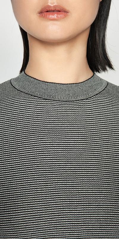 Knitwear | Multi Stripe Peplum Knit