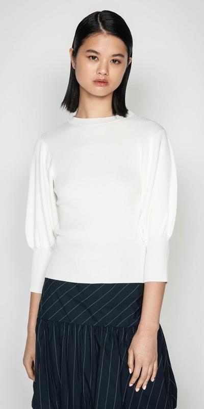 Knitwear | Sculpted Sleeve Knit