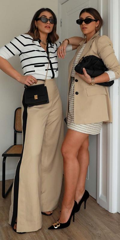 Knitwear  | Stripe Polo Collar Cardigan