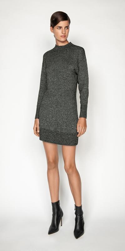 Dresses | Boucle Knit Sweater Dress