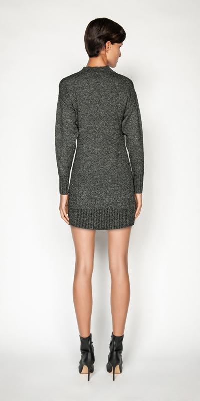 Knitwear | Boucle Knit Sweater Dress