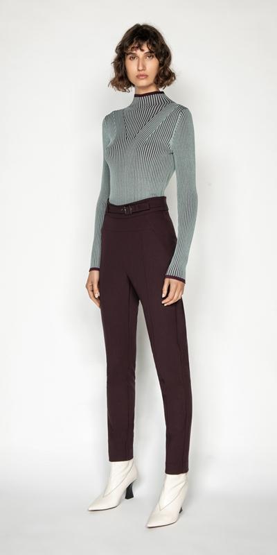 Knitwear | Long Sleeve Two Tone Rib Knit