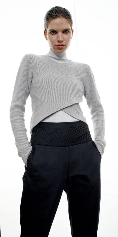 Knitwear  | Cropped Cross Front Knit