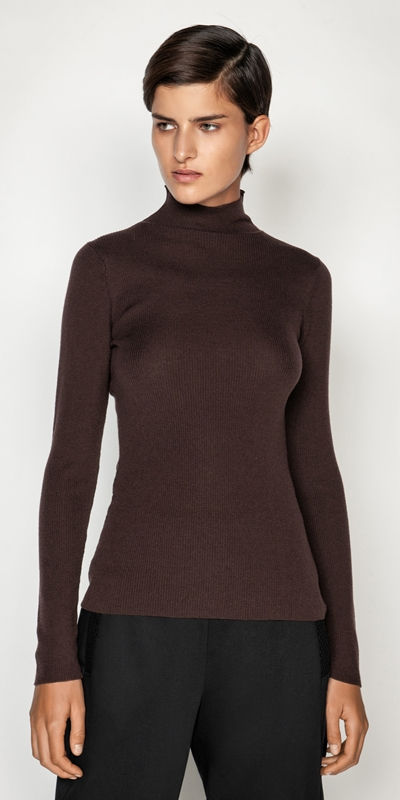 Cue Cares - Sustainable  | Merino Long Sleeve Rib Sweater
