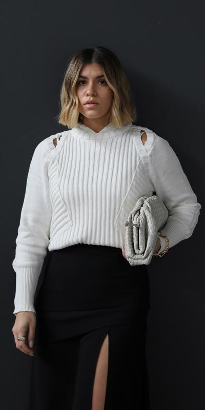 Knitwear  | Multi Rib Hoodie