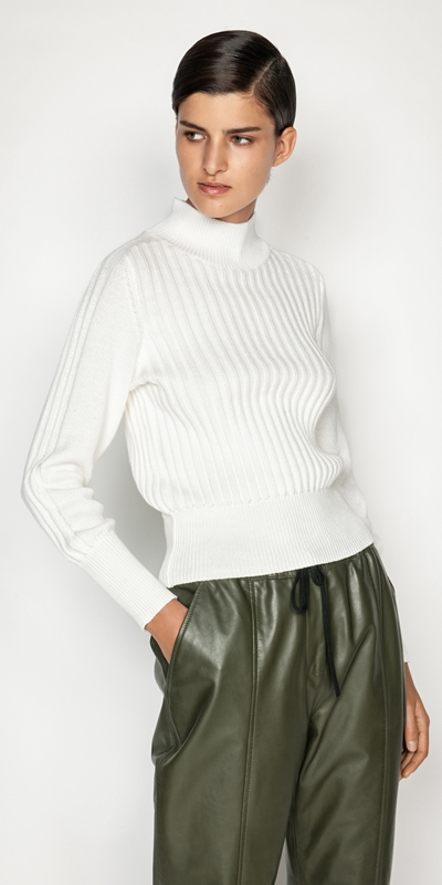 Tops and Shirts  | Chunky Funnel Neck Sweater