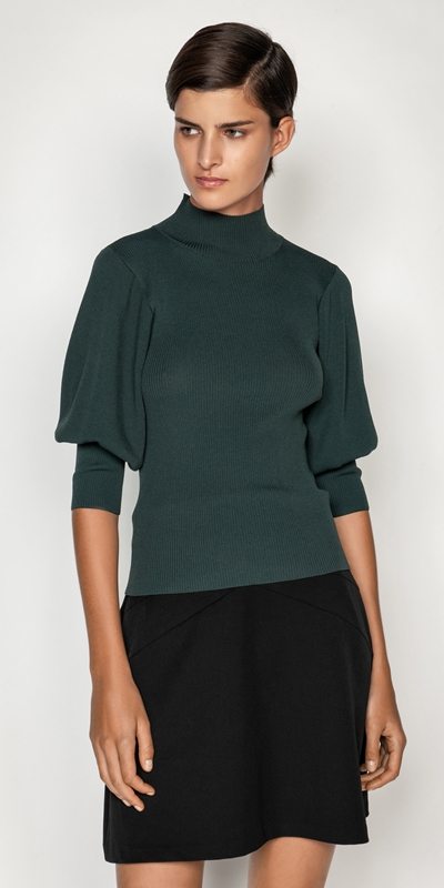 Tops  | Sculptured Sleeve Knit