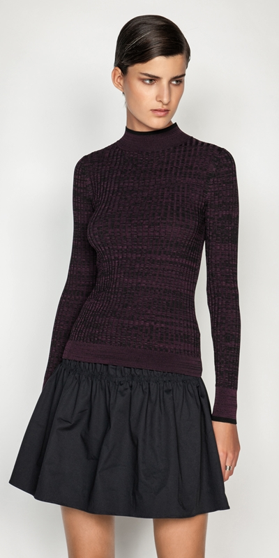 Tops and Shirts  | Mixed Colour Ribbed Knit