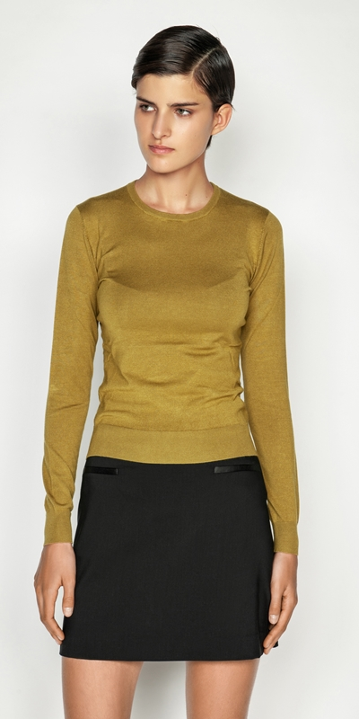 Tops and Shirts  | Long Sleeve Round Neck Knit