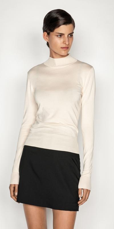 Sale  | Long Sleeve Funnel Neck Knit