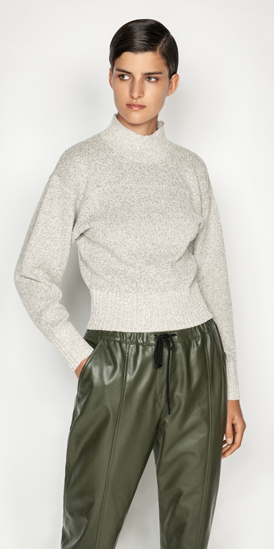 Sale  | Boucle Funnel Neck Sweater