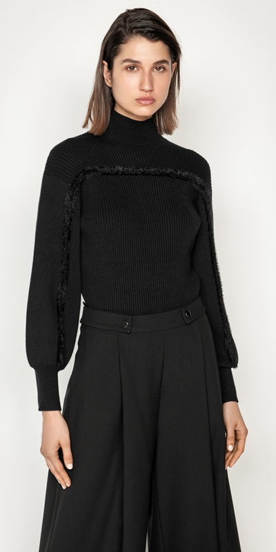 Tops and Shirts  | Contrast Trim Sweater