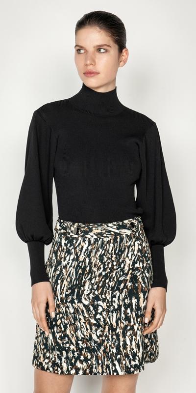 Sale  | Sculptured Long Sleeve Knit