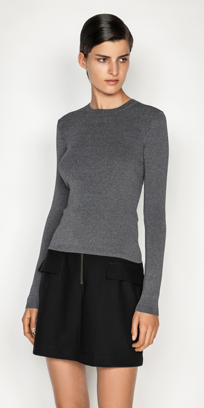Sale  | Long Sleeve Melange Knit