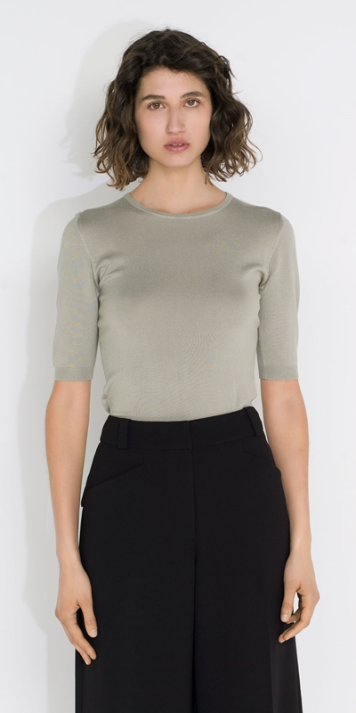 Tops and Shirts  | Elbow Sleeve Knit