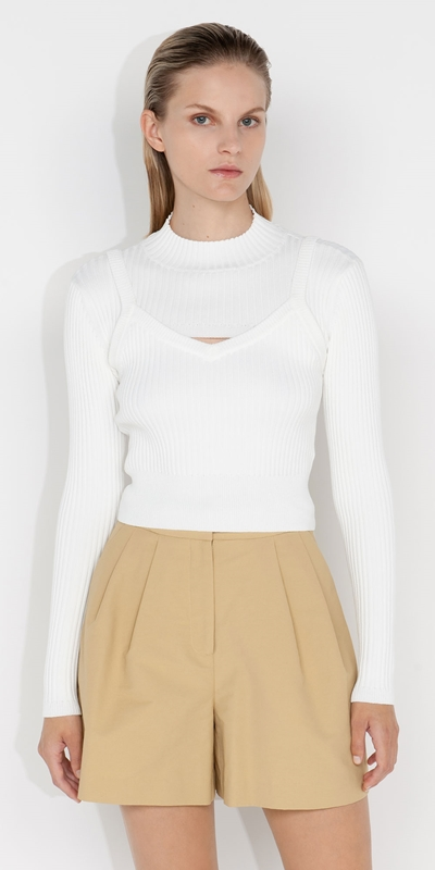 Tops and Shirts  | Ribbed Two Piece Knit