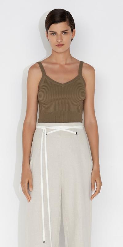 Knitwear    Ribbed Knit Cami